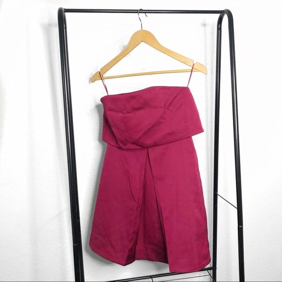 KEEPSAKE the Label Dresses & Skirts - NWT Keepsake Keep Watch Wine Red Strapless Dress